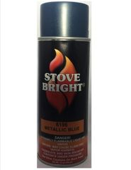 Stove Bright Fireplace Paint - Blue Metallic