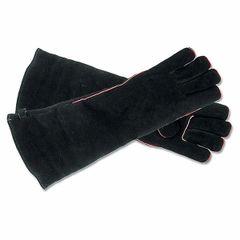 """Hearth Gloves - 20"""" (Black Suede)"""