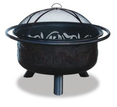 Uniflame Bronze Fire Pit w/Swirl Design