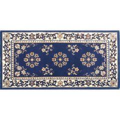 Blue Oriental Hearth Rug