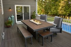 Outdoor GreatRoom Company Kenwood Fire Pit Dining Table