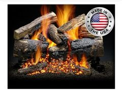 Santa Fe Black Cherry Gas Log Set by Heatmaster