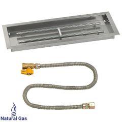 """American Fireglass 30"""" Rectangular Drop-In Pan w/Match Light Kit"""