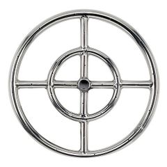 American Fireglass Double-Ring Stainless Steel Burner