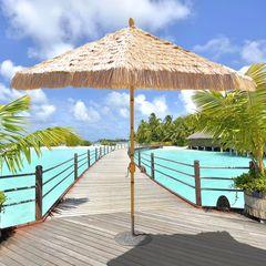 Galtech 9' Bamboo Umbrella w/Natural Pole