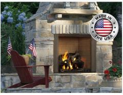 Outdoor Lifestyles Castlewood Outdoor Wood Fireplace