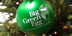 The Big Green Egg Christmas Ornament