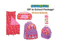 "Personalized ""Off to School"" 4-Piece Butterfly Package by Stephen Joseph"
