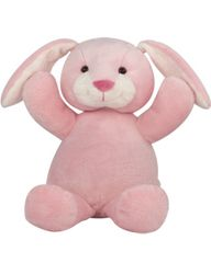 "Custom Embroidered 20"" Pink Bunny"