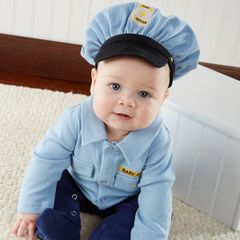 Personalized Little Officer 2-Piece Sleeper Set
