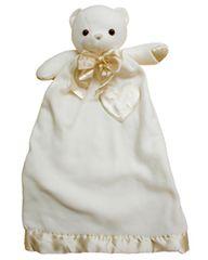 Personalized Lovie Cream Bear Security Blanket