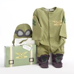 Personalized Little Pilot Two-Piece Sleeper Set
