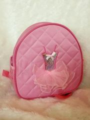 Personalized Tiny Tot Light Pink Quilted Ballerina Tutu Backpack