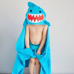 Children's Personalized Sherman the Shark Hooded Towel