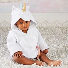 Infant's Personalized Unicorn Hooded Spa Robe