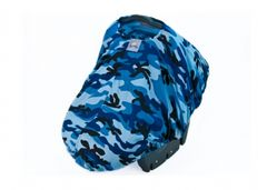 Peek-A-Boo Pod Infant Carrier Cover - Blue Camo