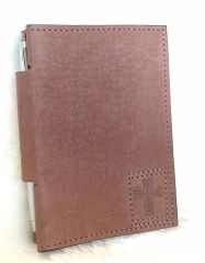 Crimson Truth Notebook Cover with Pen - Brown