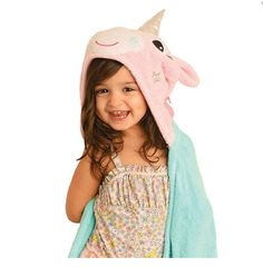 Children's Personalized Allie the Alicorn Hooded Towel