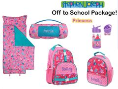 "Personalized ""Off to School"" 4-Piece Princess Package by Stephen Joseph"