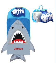 "Personalized ""Off to School"" 3D Shark Nap Mat by Stephen Joseph"