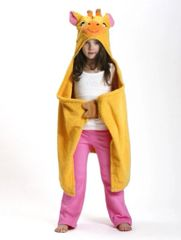 Children's Personalized Jamie the Giraffe Hooded Towel