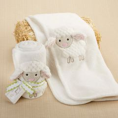 Personalized Plush 3-D Lamb Blanket