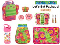 "Personalized ""Let's Eat"" 9-Piece Butterfly Package"