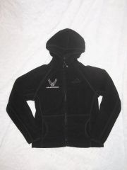 Girl's Hooded Fleece Jacket with Air Force Emblem