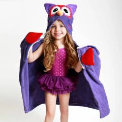 Children's Personalized Olive the Owl Hooded Towel