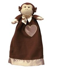 Personalized Lovie Babies Mikie the Monkey Security Blanket