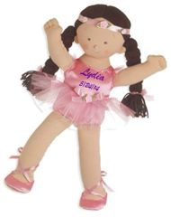 "Personalized 18"" Rosy Cheeks Big Sister Ballerina - Brunette"