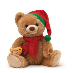 "Animated ""12 Days of Christmas"" Gund Bear"