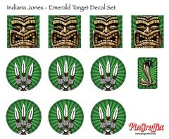 Indiana Jones Target Decal Set