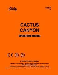 CACTUS CANYON PINBALL MANUAL (REPRINT)