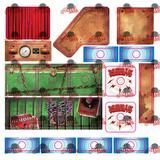 Houdini Pinball Target and Metal Guide Decal Set