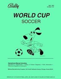 WORLD CUP SOCCER PINBALL MANUAL (REPRINT)