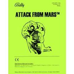 ATTACK FROM MARS PINBALL MANUAL (REPRINT)