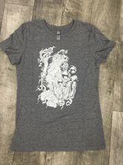 SLIM FIT LIGHT GREY STERN WIZARD T-SHIRT