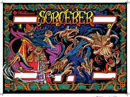 SORCERER SILKSCREENED BACKGLASS