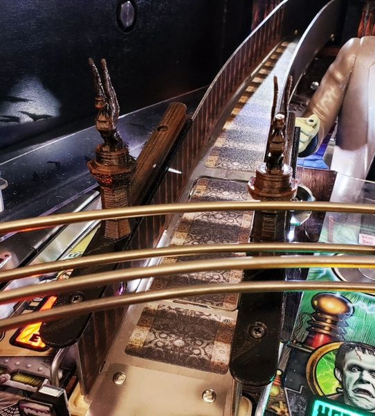THE MUNSTERS STAIRCASE RAILING
