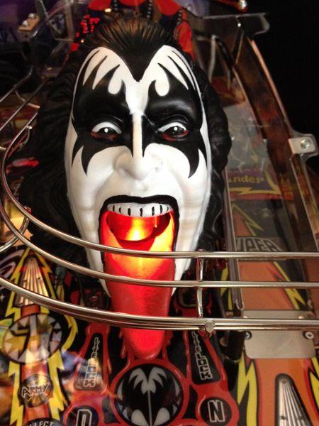 Kiss Pinball Demon Head Illuminated Mouth