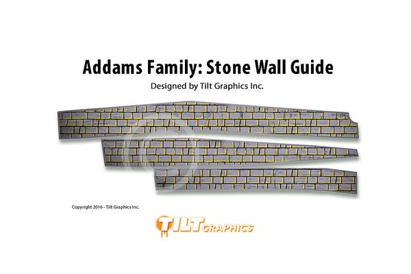 Addams Family: Stone Side Rail Decals