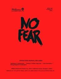 NO FEAR PINBALL MANUAL (REPRINT)