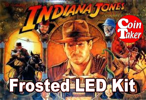 3. 1993 INDIANA JONES BALLY/WILLIAMS LED Kit w Frosted LEDs