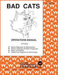 BAD CATS PINBALL MANUAL (REPRINT)