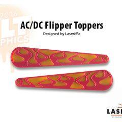 AC/DC FLAMES FLIPPER TOPPER