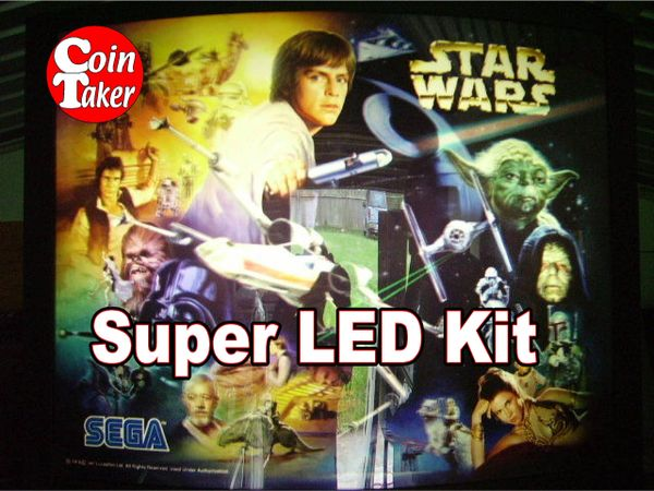 2. STAR WARS TRILOGY Sega 1997 LED Kit w Super LEDs