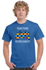 Tractors For Autism & Disabilities Official T-shirt Royal Blue