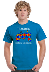 Tractors For Autism & Disabilities Official T-shirt Sapphire Blue