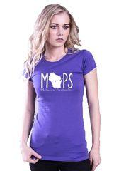 Cotton Heritage HC1025 T-Shirt Women JR Crew Neck -MOPS Logo
